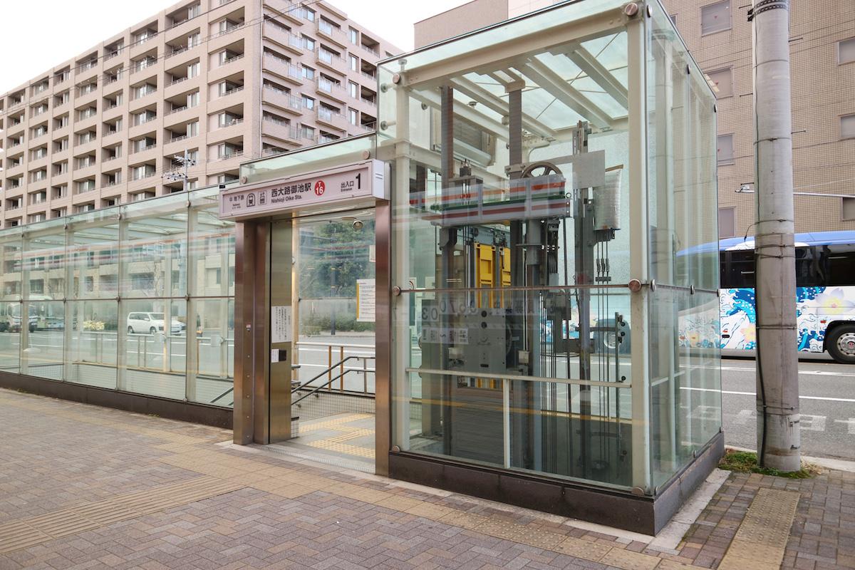 京都市営地下鉄東西線「西大路御池駅」